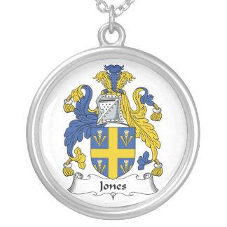 Escudo de la familia de Jones Colgante Redondo