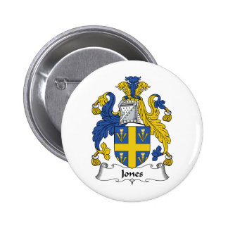 Escudo de la familia de Jones Pin Redondo De 2 Pulgadas