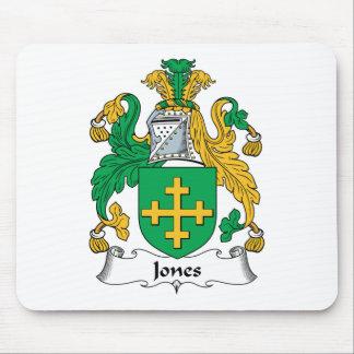 Escudo de la familia de Jones Tapete De Ratón
