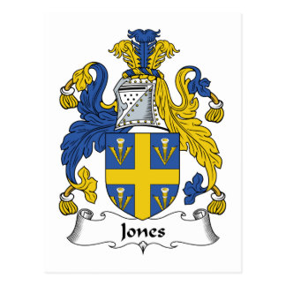 Escudo de la familia de Jones Postales