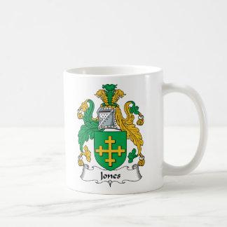 Escudo de la familia de Jones Taza De Café