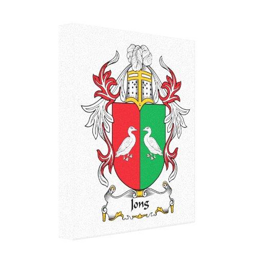 Escudo de la familia de Jong Lienzo Envuelto Para Galerías