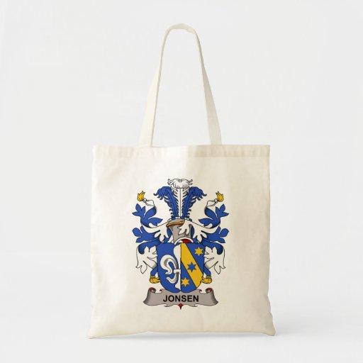 Escudo de la familia de Jonsen Bolsa Tela Barata