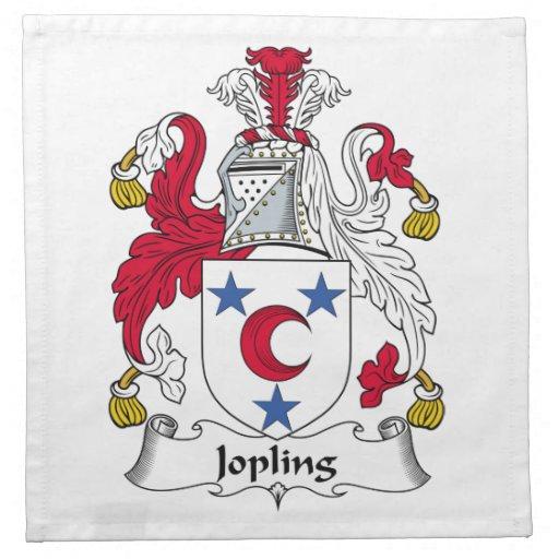 Escudo de la familia de Jopling Servilleta