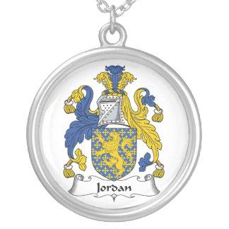 Escudo de la familia de Jordania Collar Plateado