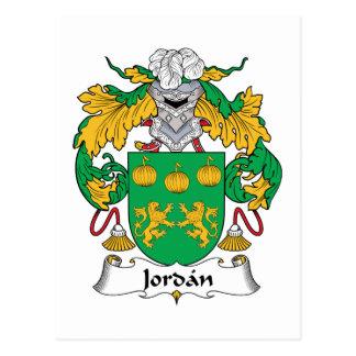 Escudo de la familia de Jordania Postales