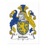 Escudo de la familia de Jordania Tarjetas Postales