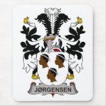Escudo de la familia de Jorgensen Tapetes De Raton