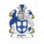 Escudo de la familia de Joyner Tarjeta Postal