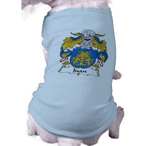 Escudo de la familia de Juan Playera Sin Mangas Para Perro