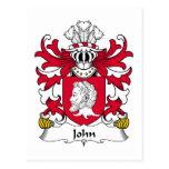 Escudo de la familia de Juan Tarjetas Postales