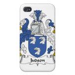 Escudo de la familia de Judson iPhone 4 Protectores