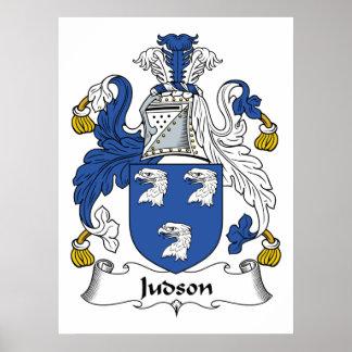 Escudo de la familia de Judson Posters