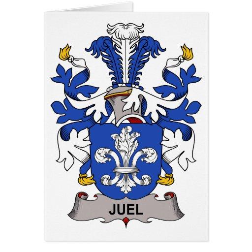 Escudo de la familia de Juel Tarjeta De Felicitación