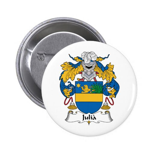 Escudo de la familia de Julia Pin Redondo 5 Cm