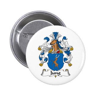 Escudo de la familia de Jung Pin Redondo De 2 Pulgadas