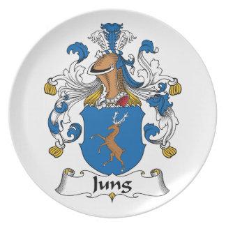 Escudo de la familia de Jung Plato De Cena