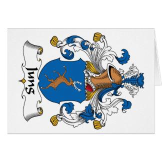 Escudo de la familia de Jung Tarjeta De Felicitación