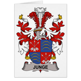 Escudo de la familia de Junge Tarjeta De Felicitación