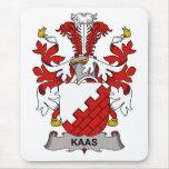 Escudo de la familia de Kaas Alfombrillas De Raton