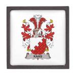 Escudo de la familia de Kaas Caja De Regalo De Calidad