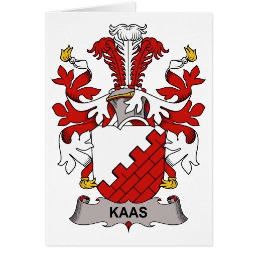Escudo de la familia de Kaas Felicitación