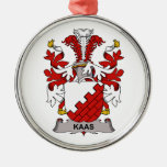 Escudo de la familia de Kaas Ornamento De Navidad