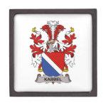 Escudo de la familia de Kabbel Cajas De Recuerdo De Calidad