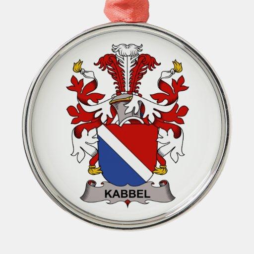 Escudo de la familia de Kabbel Adorno Redondo Plateado