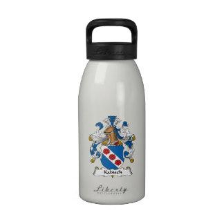 Escudo de la familia de Kabisch Botellas De Beber