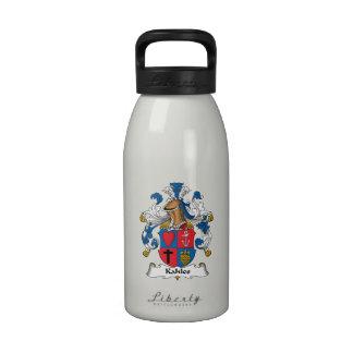 Escudo de la familia de Kahles Botella De Agua