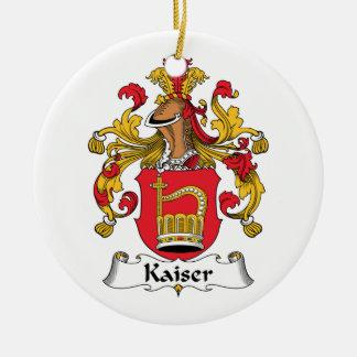 Escudo de la familia de Kaiser Adorno Redondo De Cerámica