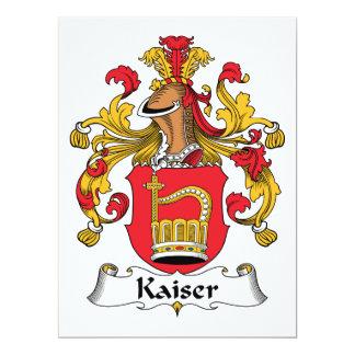 "Escudo de la familia de Kaiser Invitación 6.5"" X 8.75"""