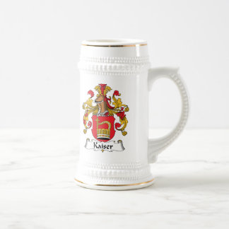 Escudo de la familia de Kaiser Jarra De Cerveza