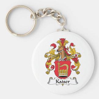 Escudo de la familia de Kaiser Llavero Redondo Tipo Pin