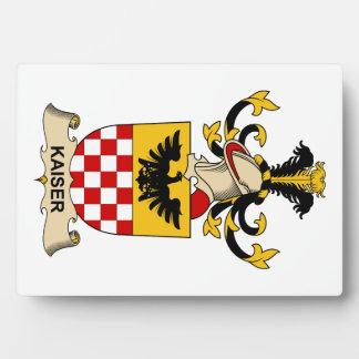Escudo de la familia de Kaiser Placa