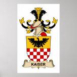 Escudo de la familia de Kaiser Posters