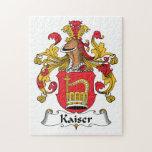 Escudo de la familia de Kaiser Rompecabezas Con Fotos