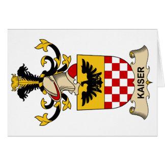 Escudo de la familia de Kaiser Tarjeta De Felicitación