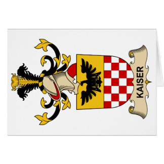 Escudo de la familia de Kaiser Tarjeton