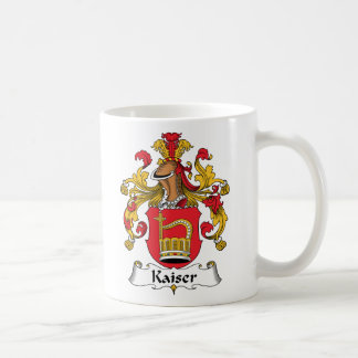 Escudo de la familia de Kaiser Taza Básica Blanca