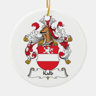 Escudo de la familia de Kalb Adorno Redondo De Cerámica