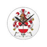 Escudo de la familia de Kalb Reloj De Pared