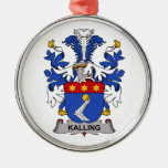 Escudo de la familia de Kalling Adornos De Navidad
