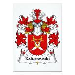 Escudo de la familia de Kaluszowski Invitación 12,7 X 17,8 Cm