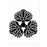 escudo de la familia de Kamon del japonés del liri Postales