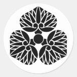 escudo de la familia de Kamon del japonés del Pegatina Redonda