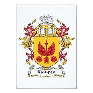 """Escudo de la familia de Kampen Invitación 5"""" X 7"""""""
