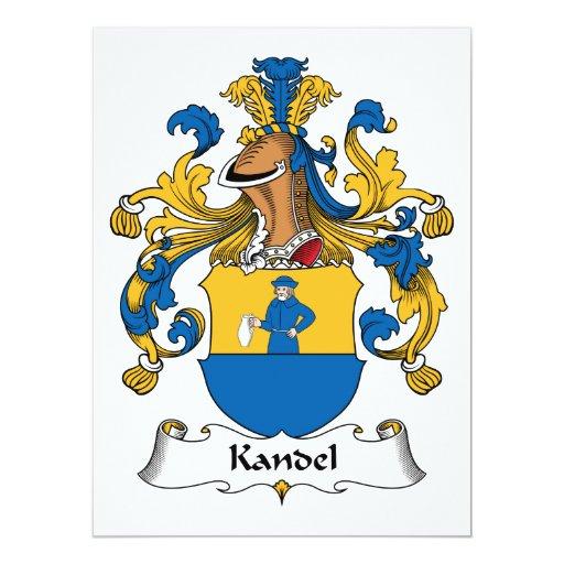 """Escudo de la familia de Kandel Invitación 6.5"""" X 8.75"""""""