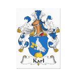 Escudo de la familia de Karl Impresion En Lona